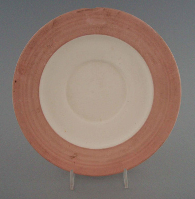 Saucer - bisque; Crown Lynn Potteries Limited; 1988-1989; 2008.1.1989