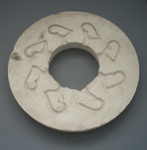 Mould part - cup handles; Crown Lynn Potteries Limited; 1975-1989; 2009.1.1210
