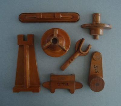 Wooden patterns; Unknown; 1940-1970; 2010.1.81.1-7