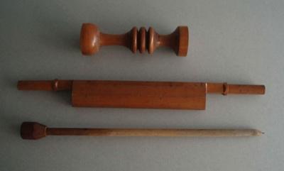 Wooden patterns; Unknown; 1940-1970; 2010.1.83.1-3