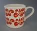 Mug - floral; Crown Lynn Potteries Limited; 1978-1989; 2008.1.2423