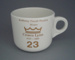 Cup - staff service commemorative; Crown Lynn Potteries Limited; 1988-1989; 2008.1.1885