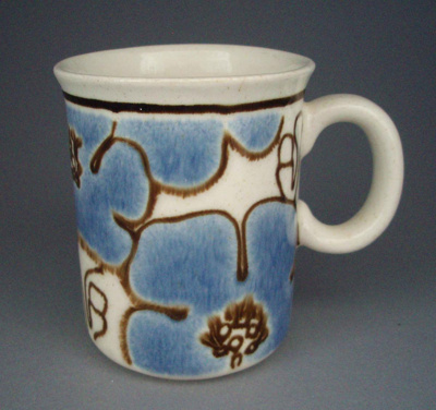 Mug - floral; Titian Potteries (1965) Limited; 1979-1985; 2008.1.2549