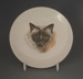 Child's bread and butter plate - cat; Crown Lynn Potteries Limited; 1960-1969; 2009.1.1003