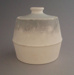 Sugar bowl and lid - bisque; Crown Lynn Potteries Limited; 1982-1983; 2009.1.104.1-2