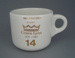 Cup - staff service commemorative; Crown Lynn Potteries Limited; 1988-1989; 2008.1.1878