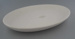 Oval dish - bisque; Crown Lynn Potteries Limited; 1969-1989; 2009.1.771