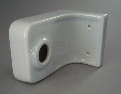 Towel rail end; Crown Lynn Technical Ceramics Limited; 1977-1989; 2008.1.1340