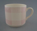 Cup - Pink Checkers pattern; Crown Lynn Potteries Limited; 1975-1985; 2009.1.690