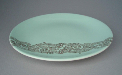 Bread and butter plate - Air New Zealand; Crown Lynn Potteries Limited; 1965-1975; 2008.1.496