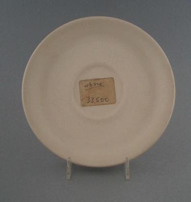 Saucer - bisque; Crown Lynn Potteries Limited; 1973-1989; 2009.1.1320