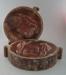 Ram press cases - tiki ashtray; Crown Lynn Potteries Limited; 1975-1980; 2009.1.214.1-2