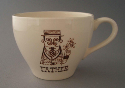 Cup - father; Crown Lynn Potteries Limited; 1966-1970; 2009.1.720