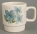 Mug - Sapphire pattern; Crown Lynn Potteries Limited; 1976-1983; 2008.1.38