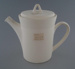 Coffee pot and lid - bisque; Crown Lynn Potteries Limited; 1975-1989; 2009.1.383.1-2