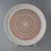 Dinner plate - Roulette pattern; Crown Lynn Potteries Limited; 1971-1985; 2009.1.731