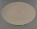 Oval plate - bisque; Crown Lynn Potteries Limited; 1980-1989; 2009.1.772