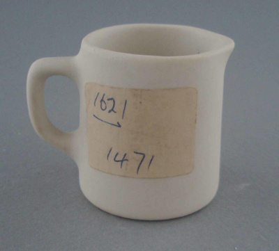 Cream jug - bisque; Crown Lynn Potteries Limited; 1967-1989; 2009.1.395