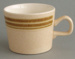 Cup - banded; Crown Lynn Potteries Limited; 1976-1989; 2008.1.17