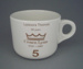 Cup - staff service commemorative; Crown Lynn Potteries Limited; 1988-1989; 2008.1.1882