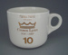 Cup - staff service commemorative; Crown Lynn Potteries Limited; 1988-1989; 2008.1.1876