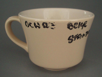 Cup - trial; Crown Lynn Potteries Limited; 1981-1989; 2008.1.1766