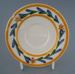 Saucer - floral; Crown Lynn Potteries Limited; 1989; 2009.1.991