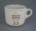 Cup - staff service commemorative; Crown Lynn Potteries Limited; 1988-1989; 2008.1.1884