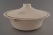 Vegetable bowl and lid - bisque; Crown Lynn Potteries Limited; 1978-1989; 2009.1.773.1-2