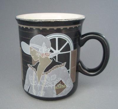 Mug - woman; Crown Lynn Potteries Limited; 1983-1989; 2008.1.758
