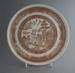 Dinner plate - trial; Crown Lynn Potteries Limited; 1982-1989; 2009.1.317