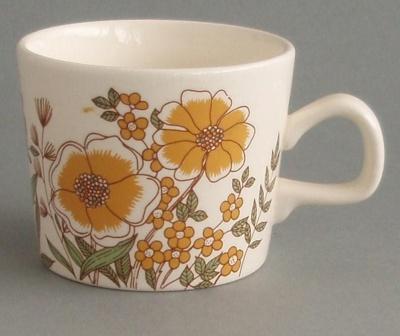 Cup - Hampton pattern; Crown Lynn Potteries Limited; 1978-1984; 2008.1.12