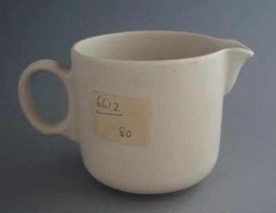 Cream jug - bisque; Crown Lynn Potteries Limited; 1973-1989; 2008.1.2347