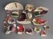Shards - Fleurette pattern; Crown Lynn Potteries Limited; 1959-1989; 2009.1.1644.1-18