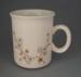 Mug - Apple blossom pattern; Crown Lynn Potteries Limited; 1984-1989; 2009.1.526