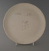 Dinner plate - bisque; Crown Lynn Potteries Limited; 1982-1989; 2009.1.1164