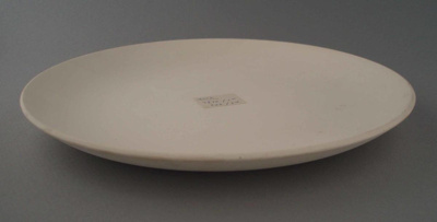 Dinner plate - bisque; Crown Lynn Potteries Limited; 1965-1989; 2009.1.1130