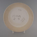 Luncheon plate - bisque; Crown Lynn Potteries Limited; 1988-1989; 2009.1.1179