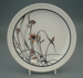 Luncheon plate - Outline pattern; Crown Lynn Potteries Limited; 1979-1981; 2008.1.97