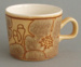 Cup - Camille pattern; Crown Lynn Potteries Limited; 1977-1981; 2008.1.19