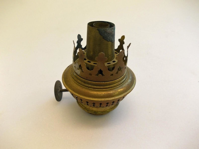 Wick holder (small), wick and attachments; SGHT.2012.12