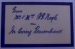 Memorial card; SGHT.2011.25
