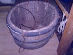 Large circular wicker basket ; SGHT.2011.23