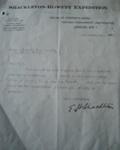 Letter; 1921; SGHT.2007.1