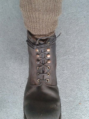 Boots with paracord laces; SGHT.2013.7