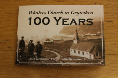 Grytviken Church Centenery Ephmera; SGHT.2013.56.1-5