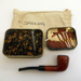 Pipe, Match, Tobacco Tin and smoking bag; SGHT.2013.32