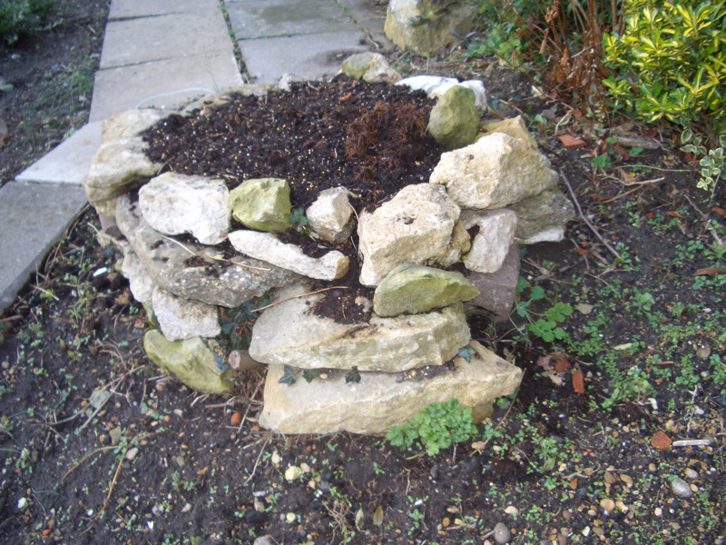what is a tree trunk covered with 4 letters - stone mound to cover tree stump ehhtm cimg0356 on ehive