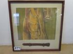 Framed pencil drawing; Weekes T; 1986; IMG_577.001.jpg