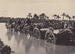 Photograph - Wagons of the first light horse campaigning at Esdud in the Jerusalem Campaign in 1918. ; Australian War Memorial; 1942; 14280